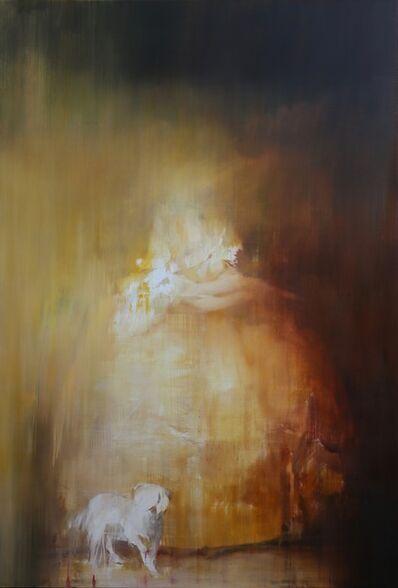 Jake Wood-Evans, 'Portrait of Queen Charlotte, after Gainsborough', 2019