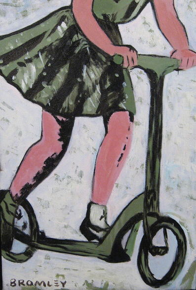 David Bromley, 'Girl on Scooter', 2008