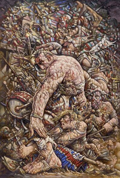 """Peter Howson, '""""Und die hölle"""" Kam nach. And Hell followed with him', 2017"""