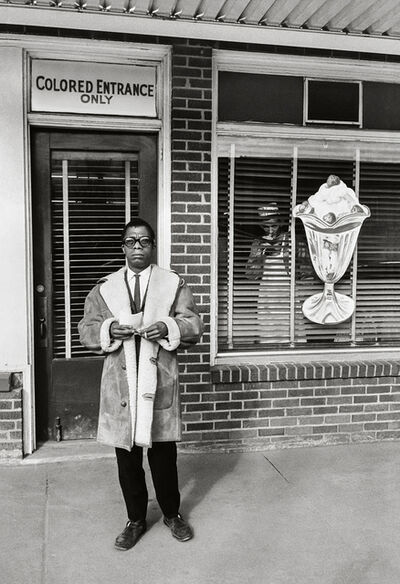 Steve Schapiro, 'James Baldwin, Colored Entrance Only, New Orleans', 1963
