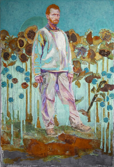 Piet van den Boog, 'Vincent's Walk Through The Sunflower Field', 2020