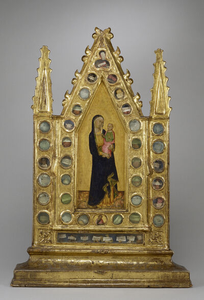 Naddo Ceccarelli, 'Reliquary Tabernacle with the Virgin and Child', ca. 1350