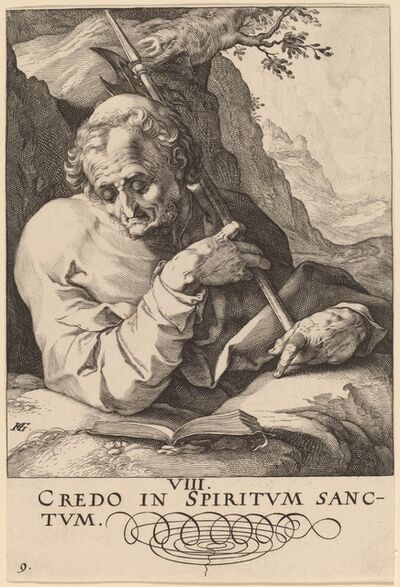 Hendrik Goltzius, 'Saint Matthew', probably 1589