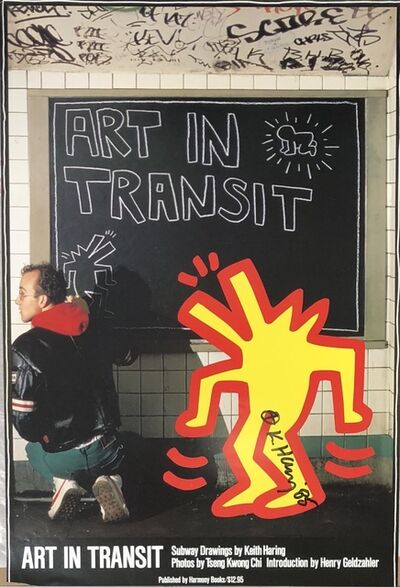 Keith Haring, 'Art in Transit, Book Release Announcement ', 1985