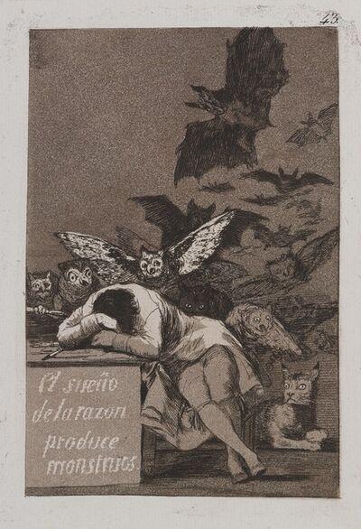 Francisco de Goya, 'The Sleep of Reason Produces Monsters (El sueño de la razón produce monstruos)', 1797-1798