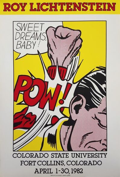 Roy Lichtenstein, 'Colorado State University (Sweet Dreams Baby!)', 1982