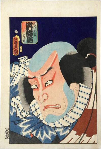 Utagawa Toyokuni III (Utagawa Kunisada), 'Actor Nakamura Tsuruzo I as Hiraga Jirozo', 1863