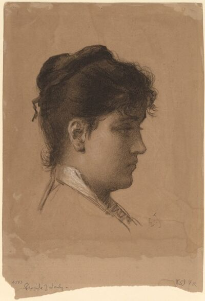 Eastman Johnson, 'Head of a Young Woman', late 1870s