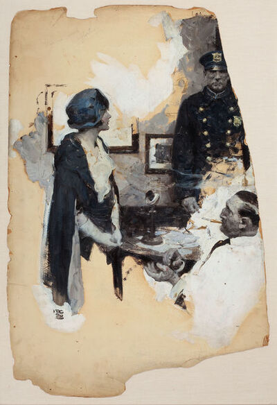 Dean Cornwell, 'At the Precinct, Story Illustration', 1929