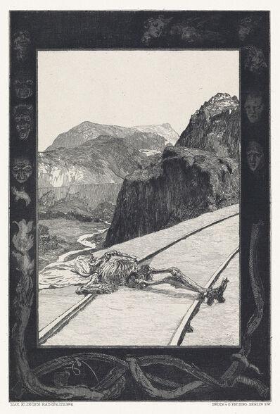 Max Klinger, 'Vom Tode, I. Theil und II. Theil', 1897-98
