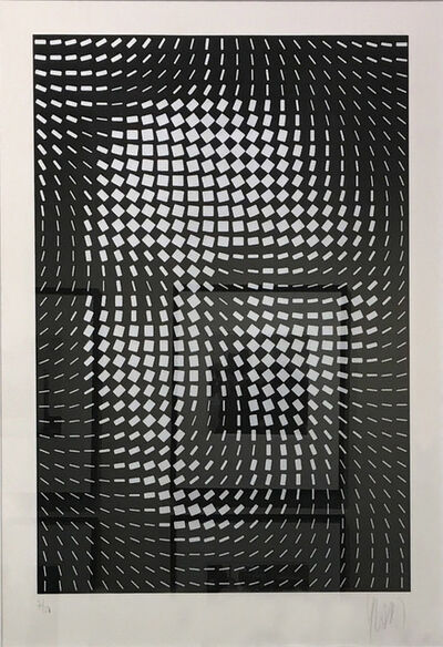 Yvaral, 'Mona Lisa (Black & White)', 1987