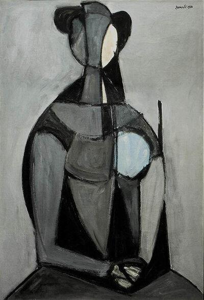 Duilio Barnabé, 'Seated Figure, Grey Background (Figura seduta, fondo grigio)', 1950