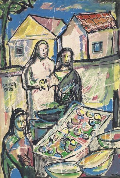 Francis Newton Souza, 'Untitled (Figures at the Market)', 1950