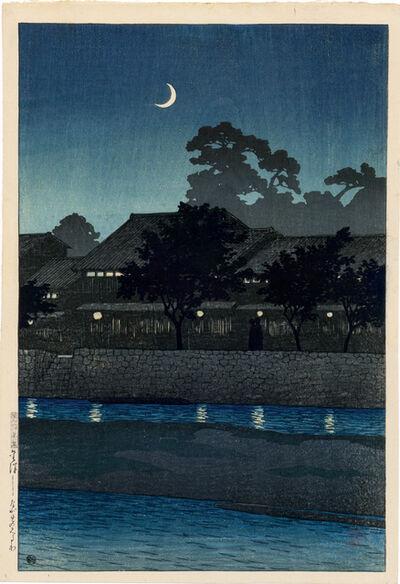 Kawase Hasui, 'Nagare Pleasure Quarter, Kanazawa', 1920