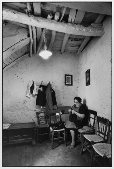 Leonard Freed, 'Woman sewing at home, Madonie Mountains, Sicily, Italy ', 1974
