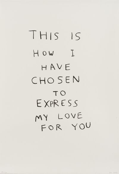 David Shrigley, 'This is How I Have Chosen', 2014