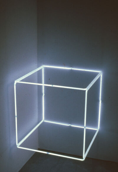 Stephen Antonakos, '2' Blue Neon', 1971