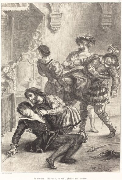 Eugène Delacroix, 'The Death of Hamlet (Act V, Scene II)', 1843