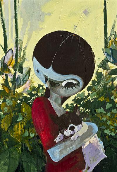 Erkut Terliksiz, 'Dog with Girl', 2018