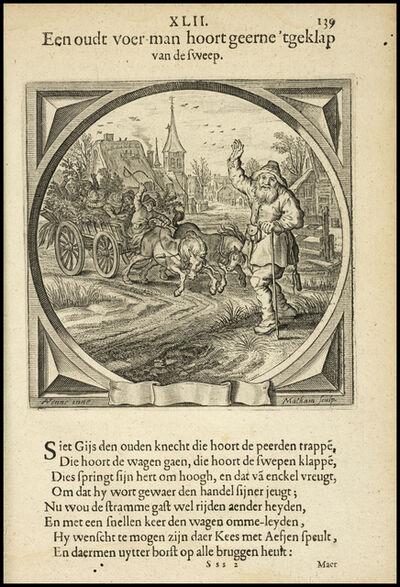 Adriaen Pietersz van de Venne, 'Een oudt voer-man hoort geerne 'tgeklap van de sweep', 1632