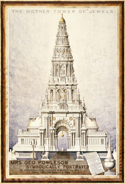 A.G. Rizzoli, 'Mrs. Geo. Powleson Symbolically Portrayed/The Mother Tower of Jewels', 1935