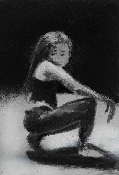 Jonathan Huxley, 'Girl under street light', 2020