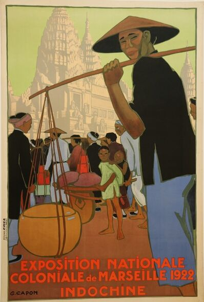 Georges Capon, 'Poster for the 1922 Marseille Colonial Show by Georges Capon, Art Deco, France', 1922