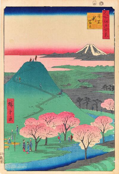 Utagawa Hiroshige (Andō Hiroshige), 'Mt. Shinfuji in Meguro', 1857