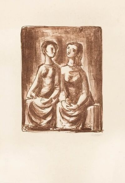 Fernando Rivero, 'Mujeres Hablando', 1964