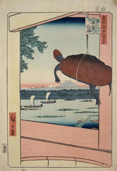 Utagawa Hiroshige (Andō Hiroshige), 'Mannen Bridge, Fukagawa', 1857