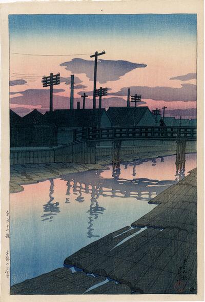 Kawase Hasui, 'Dusk at Kiba', 1920