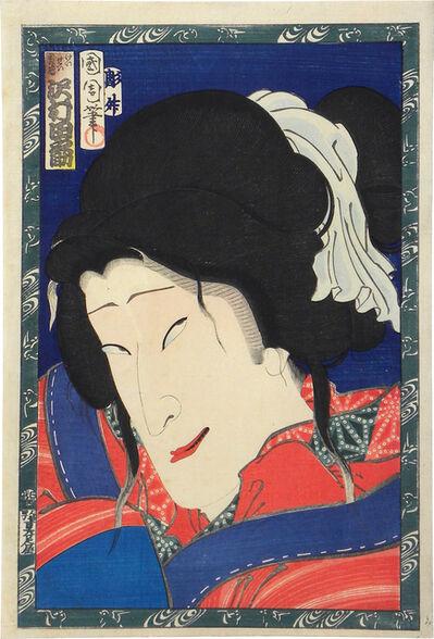 Toyohara Kunichika, 'Actor Sawamura Tanosuke III as the Courtesan Shikishima', 1869