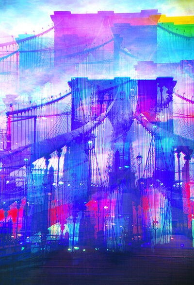 Mitchell Funk, 'Brooklyn Bridge Mulitple Exposure', 1970
