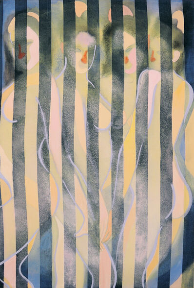 Max Maslansky, 'Four Women (Striped Pillowcase)', 2017