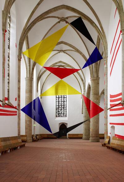Felice Varini, 'Trapecios y triángulos por las esquinas.', 2017