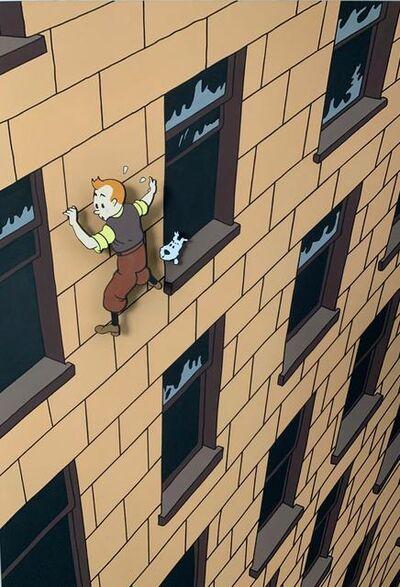 Gabriel Ortega, 'Tintin climbing', 2020
