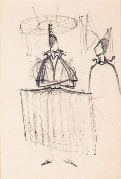 "Armando Barrios, 'Boceto vestuario para ballet ""Pavana"". Accademia Chigiana. Siena', 1975"