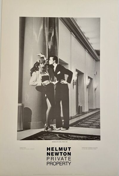 "Helmut Newton, 'Rare Limited Helmut Newton ""Private Property"" Gallery Lithographic Poster (features the photo 'Woman into Man, Paris"", 1979)', 1985"