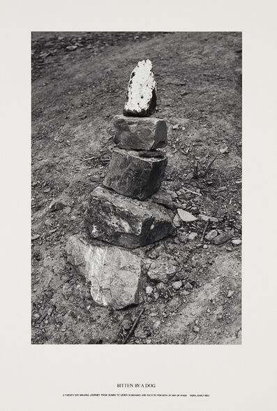 Hamish Fulton, 'Bitten by a Dog: A Twenty Day Walking Journey from Dumre to Leder in Manang and back to Pokhara by way of Khudi, Nepal', 1983