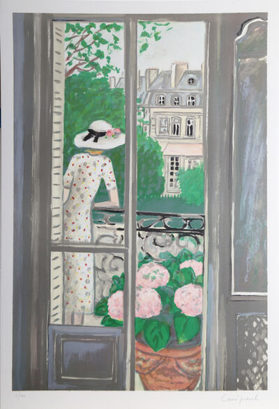 Jean-Pierre Cassigneul, 'Woman on Balcony', 1989