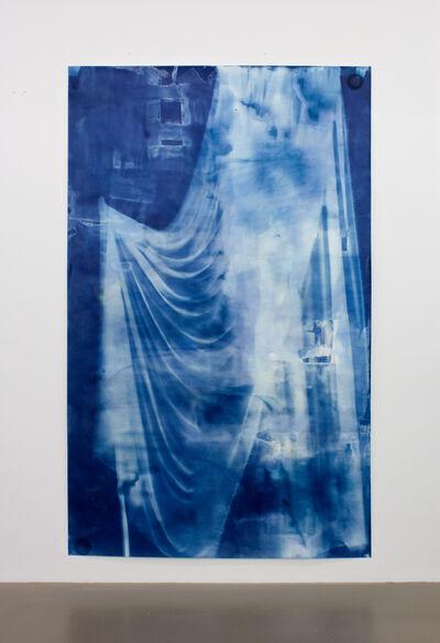 Ulla von Brandenburg, 'Vorhang Blau 2', 2019
