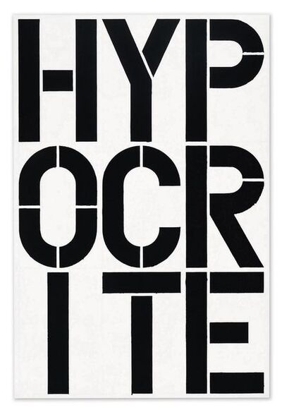 Christopher Wool, 'Hypocrite', 1989