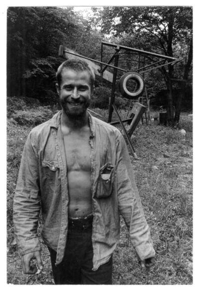 Danny Lyon, 'Mark Di Suvero at Stony Point NY', 1965