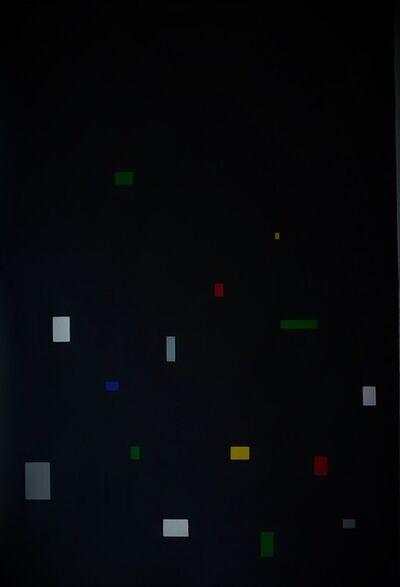 Tepeu Choc, 'El aumento de la linea en el espacio N.6 (sobre negro)', 2013