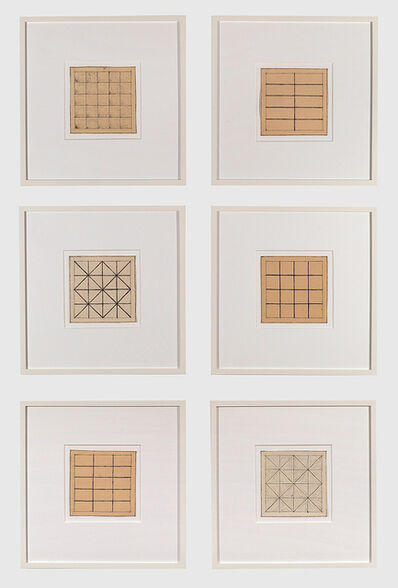 Jan Schoonhoven, 'Untitled (Six Drawings)', 1966
