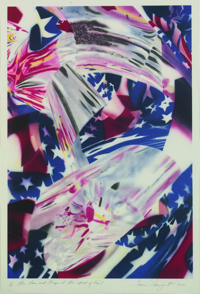 James Rosenquist, 'The Stars  and Stripes at the Speed of Light', 2000