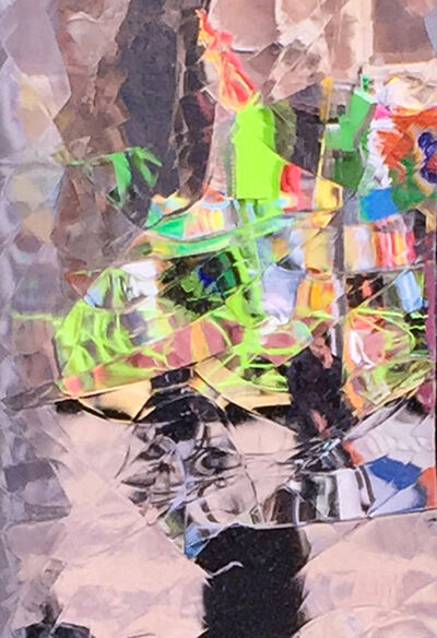Larry Garmezy, 'Carnival in Delft #1 - Abstract cityscape photography, cubist, Cityscape, Geometric, Netherlands, through antique glass', 2019