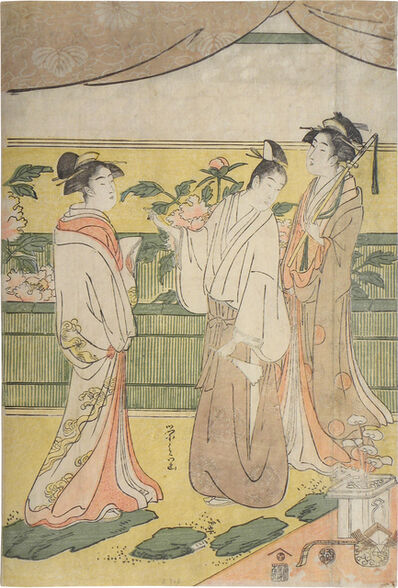 Hosoda Eishi, 'The Tale of Genji: Flower Festival', ca. 1791-94