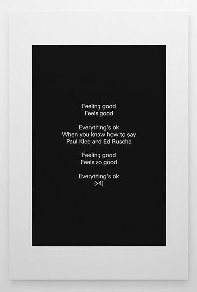 Alex Clarke, 'Everything's ok', 2018