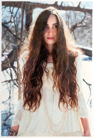 "Yigal Ozeri, 'Untitled ""Lizzie in the Snow""', 2014"